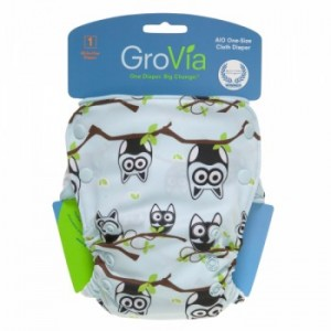 GroVia Owl Cloth Diaper available at Kelly's Closet