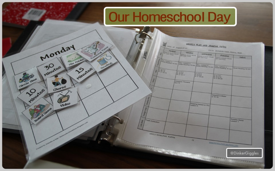 Our Homeschool Day with the Weekly #Homeschool Planner @DinkerGiggles