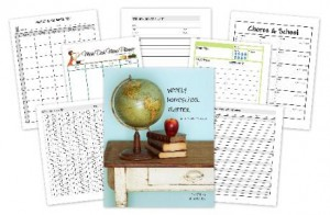 homeschool editable weekly planner
