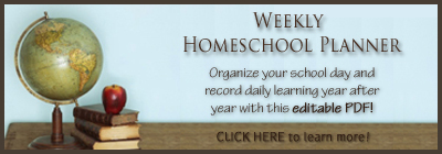 printable homeschool chore chart planner