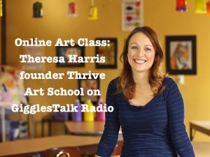 Thrive Online Art Classes @DinkerGiggles @GigglesTalkRadio #podcast