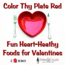 Color Thy Plate Red for Valentine's