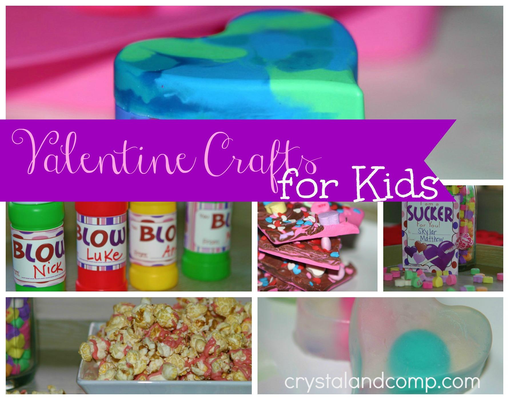 Valentine Crafts for Kids @DinkerGiggles @CrystalandComp #homeschool #crafts