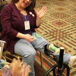 Spinning Wheel Demonstration: Pittsburgh Knit & Crochet Festival @DinkerGiggles #knit #crochet