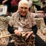 Gigantic Knitting Needle Demonstration: Pittsburgh Knit & Crochet Festival @DinkerGiggles #knit #crochet
