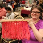 Weave and Loom Demonstration: Pittsburgh Knit & Crochet Festival @DinkerGiggles #knit #crochet