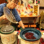 Crock Pot Dying Demonstration: Pittsburgh Knit & Crochet Festival @DinkerGiggles #knit #crochet