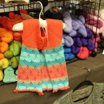 Cute Little Girls Outfit and Colorful Yarn Pittsburgh Knit & Crochet Festival #knit #crochet @DinkerGiggles